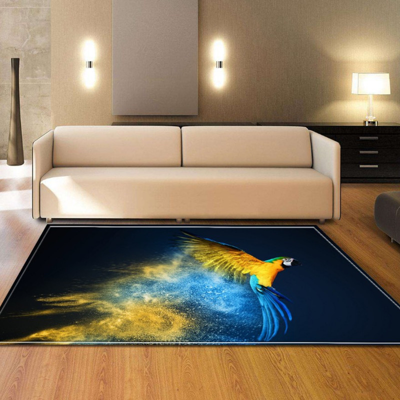 colour <font><b>3D</b></font> print birds carpet living room rugs large cute cat heart carpet bedroom sofa table <font><b>tapete</b></font> fashion mat home decroative image