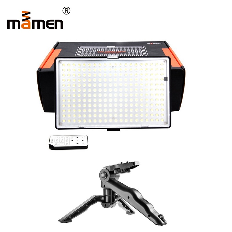Mamen 240pcs Photography Lighting 1200LM 3200K-5600K Wireless Remote Control Vedio Camera Light For Canon Nikon Sony Flash +Gift