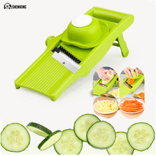 SHENHONG Integrated Blade Mandoline Slicer Vegetable Cutter Potato Julienne Carrot Manual Gadgets Cheese Grater Kitchen Tool