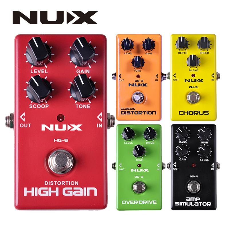 NUX Effect Pedal CH3 DS3 AS4 HG6 OD3 Classic Overdrive AMP Simulator Chorus High Gain Electric Guitar Effect Pedals Guitar Parts
