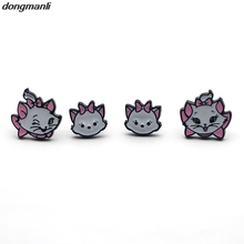 MS1172 New 1pairs The Aristocats cat Earings Cartoon Women Girl Children kids Lovely Gifts