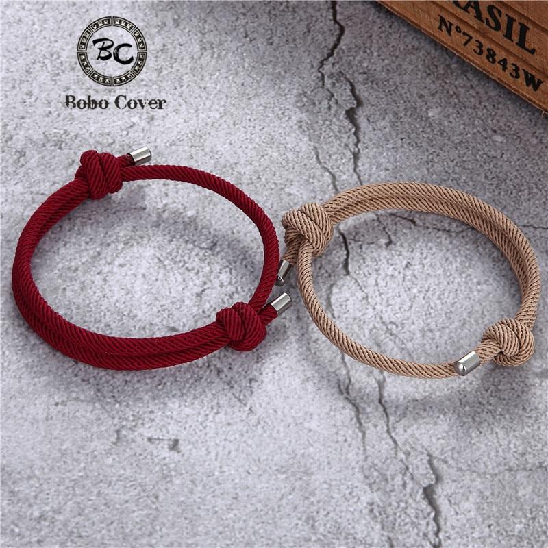 Sports Rope Lucky Survival Bracelet Women Men Handmade Colorful Milan Rope Couple Bracelets Femme Lover Jewelry friendship Gifts