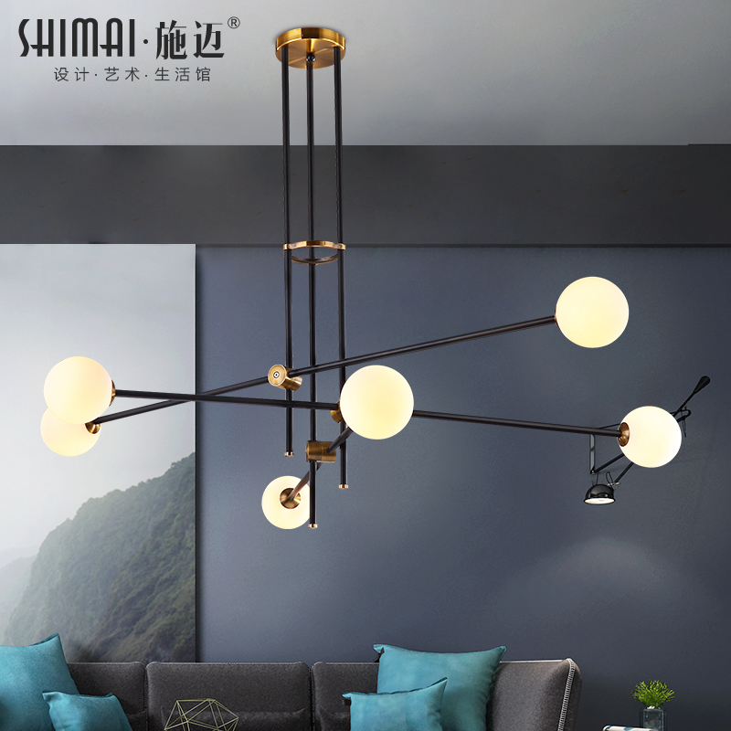 Postmodern Chandeliers Ceiling Nordic Luminaires Deco Lighting Glass Fixtures Living Room Hanging Lights Bedroom Pendant Lamps Lights & Lighting