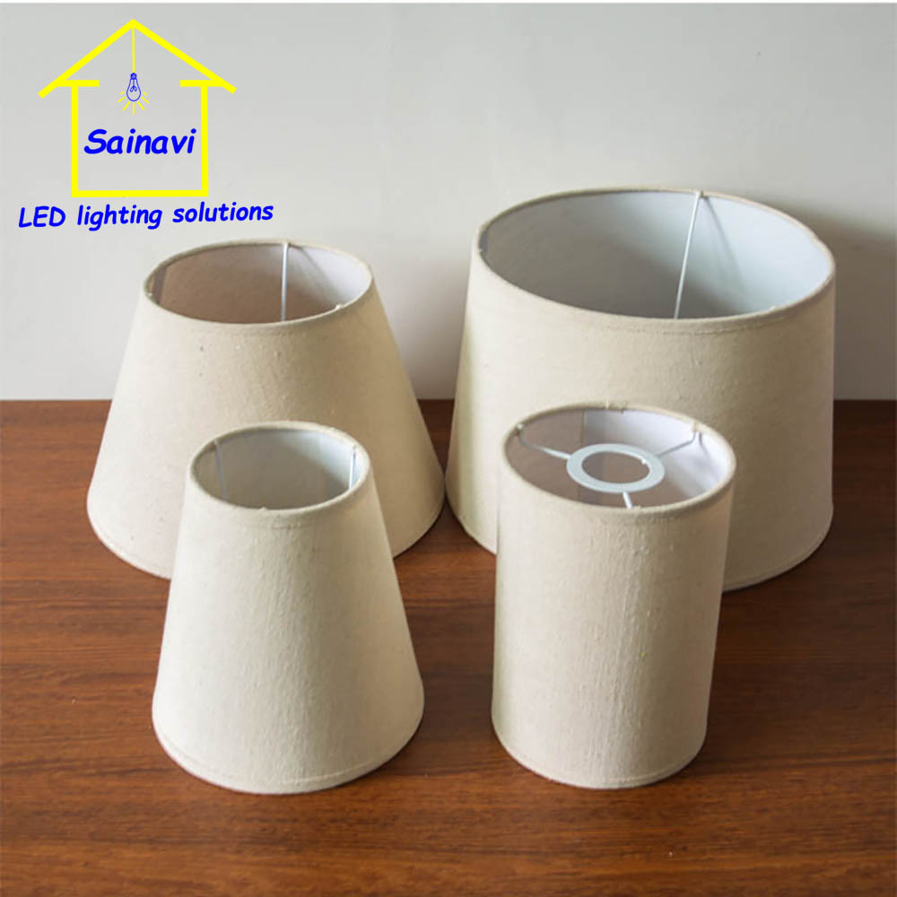 20 pcs handmade lampshade E27 medium classic decorative for table lamp floor lamp fabric cover Rustic Country retro