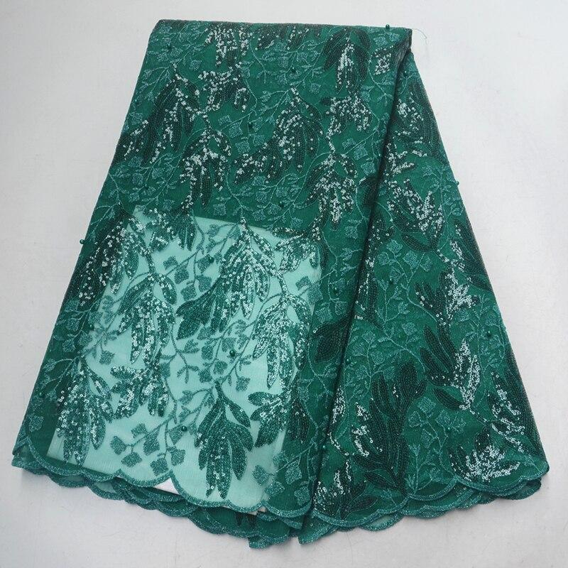 Африканская кружевная Высококачественная французская блестящая кружевная ткань с вышивкой бисером органза гипюр кружева 5 ярдов/шт свадебное платье