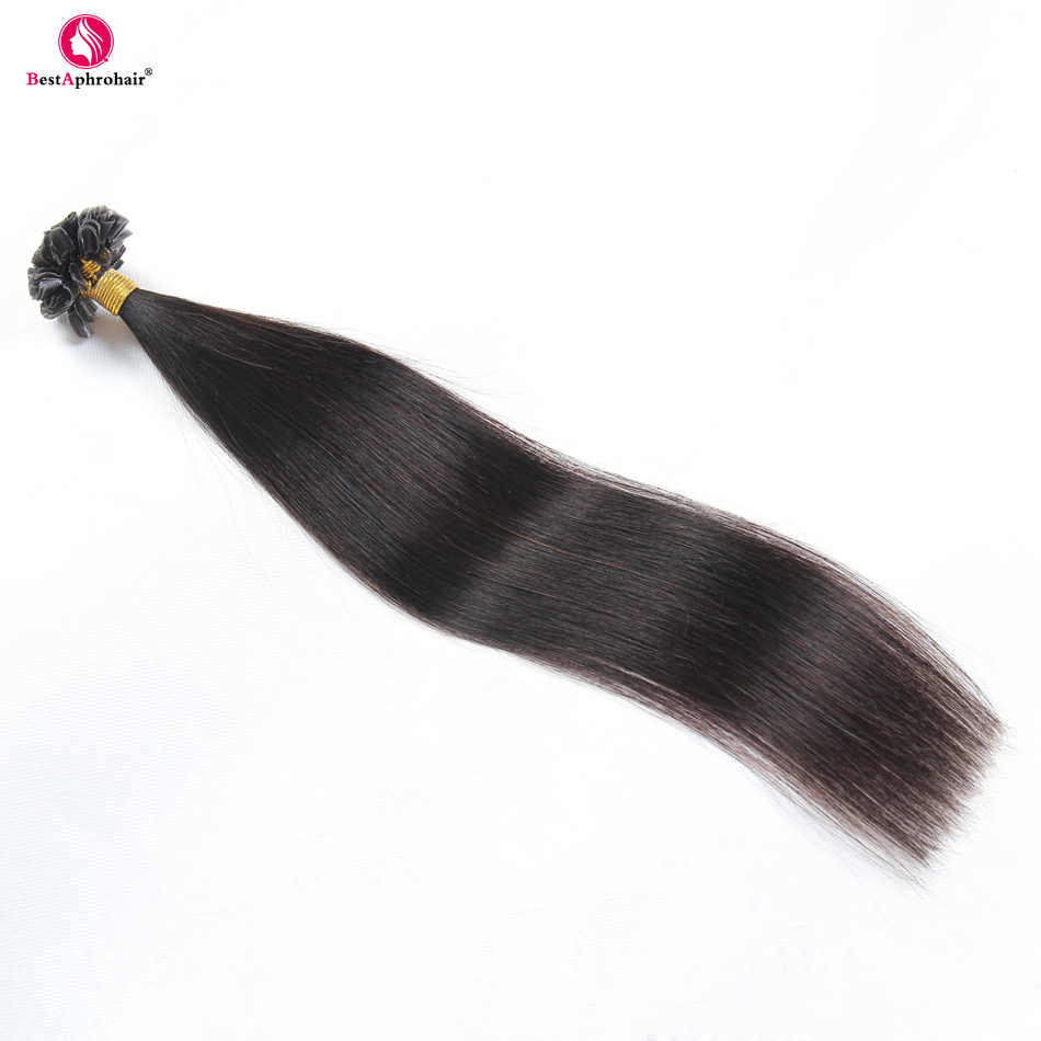 """Афро-парик кератин u-кончик волосы для наращивания 0,5 г/локон 50 г/лот не Реми человеческие волосы прямые 18 """"-24"""" дюймов #1 # 1B #2 #4 #6 #8 #12 #16 #27 #613 # красный"""