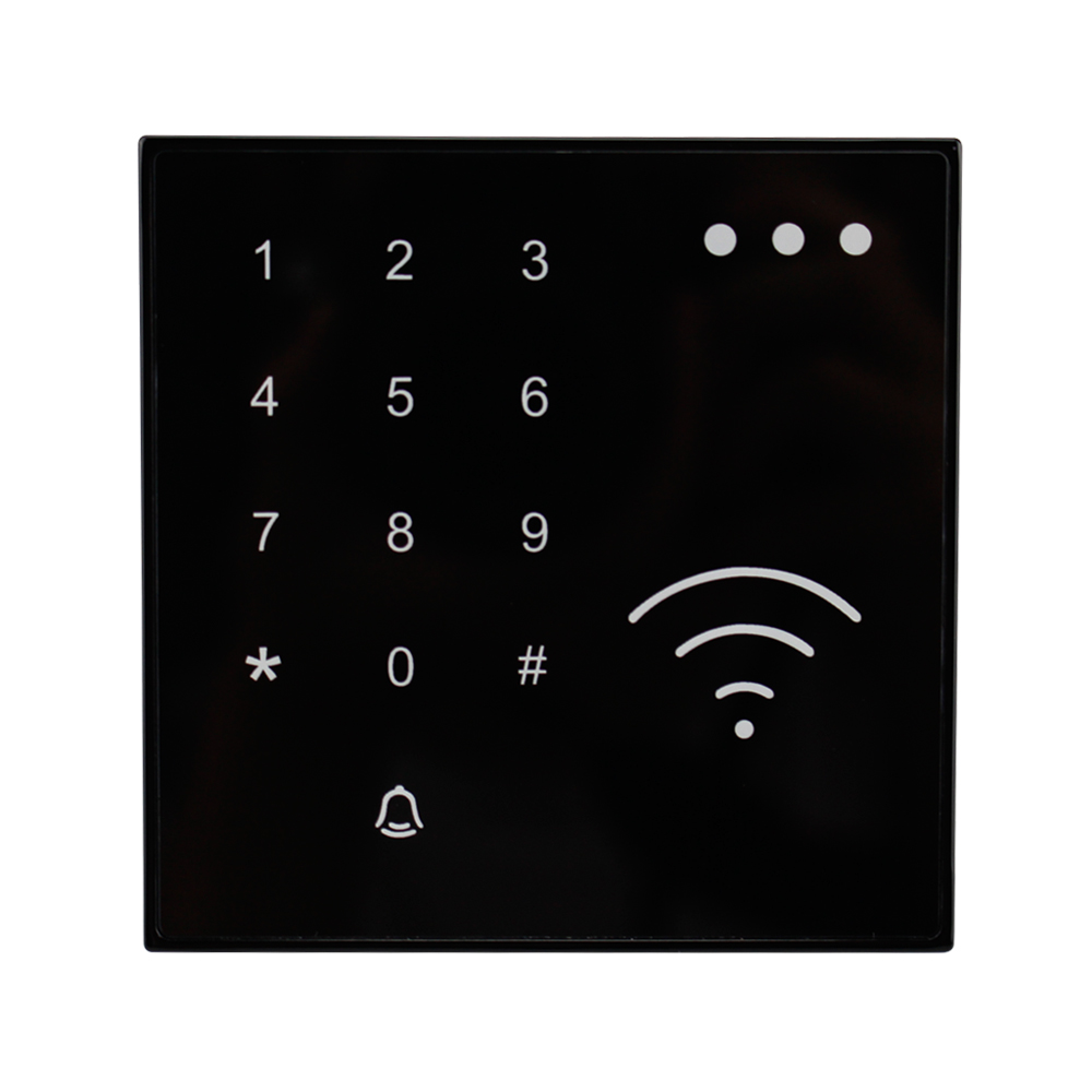 125KHz RFID Smart Card Reader NFC EM ID Reader Proximity With Doorbell Button Waterproof Touch Keypad For Access Control System hot sale ip65 waterproof smart card access control with touch keypad m08t 125khz rfid card reader