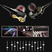 earphone High bass dual drive stereo In-Ear Earphones With Microphone Computer earbuds For Cell phone