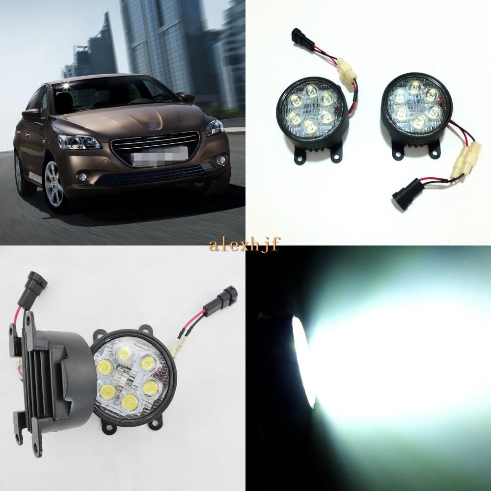 Кинг июля 18ВТ 6ledы Н11 светодиодные корпус Противотуманного фонаря в сборе для Peugeot 301 2013~на, 6500К 1260LM LED дневные ходовые огни
