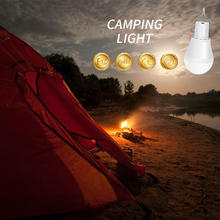 LED Solar Panel Power Outdoor Light Bulb IP65 Waterproof Lamp Led 5V Portable Energy Camping Lighting