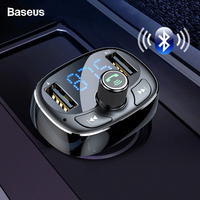 Baseus fm-передатчик Aux модулятор Bluetooth 4,2 USB Комплект автомобильного зарядного устройства Громкая связь MP3-плеер 3.4A быстрое зарядное устройство ...