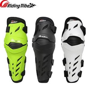 Image 1 - 3 colors PRO BIKER 2018 Motorcycle knee protector Knee sliders motosiklet knee Protective Gear Protector Guards Kit