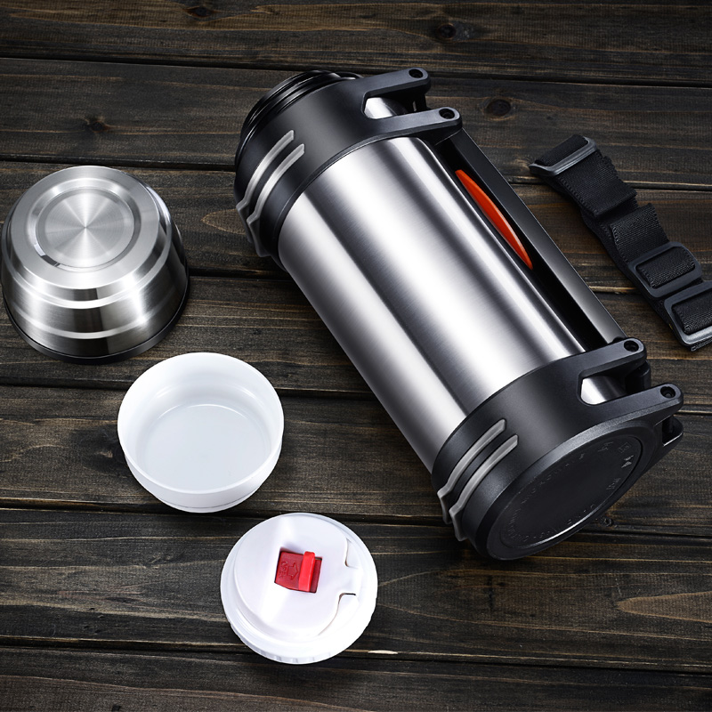 Insulation pot outdoor household insulation Cup large - capacity male stainless steel thermos bottle stainless steel vacuum coffee insulation pot