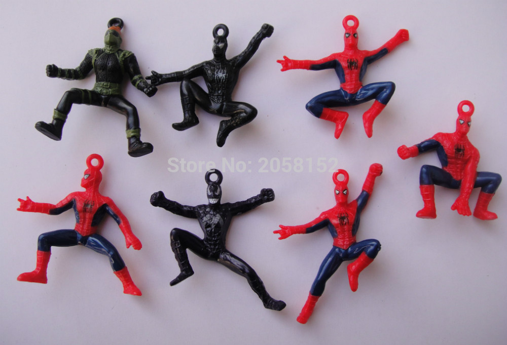 5pcs/set The Avengers Spider Man PVC Figure Toy Spiderman Figure Doll Gifts For Kids 6cm