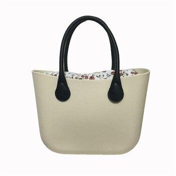 цена на Classic Women Bag obag Style Handles Ladies Silicone Rubber Waterproof Beach Handbag Woman EVA bao Waterproof Shoulder O Bag