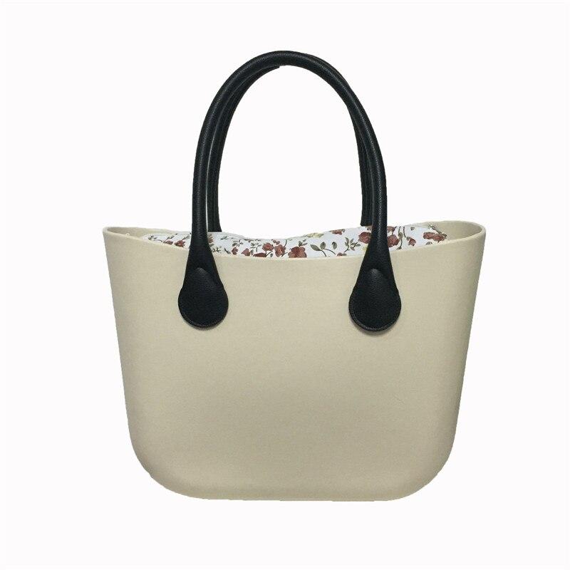 Classique femmes sac Style obag poignées dames Silicone caoutchouc étanche plage sac à main femme EVA bao étanche épaule O sac