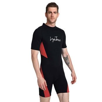 55c8e5ef0f 2019 3mm néoprène shorty natation combinaison pour hommes maillot de bain  grandes tailles 6XL 5XL maillot de bain noir natation surf plongée  combinaison