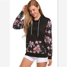 2de3877a88ab Chic mulheres hoodies moletons ladies outono inverno floral festivais clássicos  moda outono camisas de suor de roupas hoodies