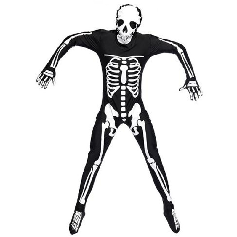 Adult male Human skeleton skeleton ghosts Costume Halloween Carnival Party Costume temptation High-quality