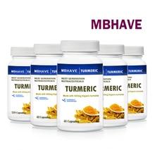 5 botellas de cúrcuma, 5x40 cápsulas, contiene antioxidantes beneficiosos