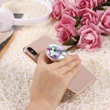 Colorful Diamond Universal Finger Ring Holder Grip Holder Expanding Stand Phone Bracket For iPhone Android Mobile Phone(China)
