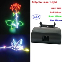 12 יח'\חבילה משלוח חינם חדש 1 W אורות לייזר 1050 mW RGB צבע מלא אנימציה לייזר מקרן למסיבת חתונה אירועי תאורת
