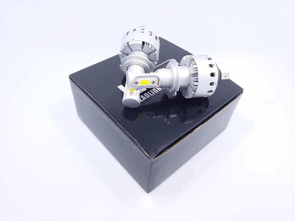 PAMPSEE 7P H4 H7 H11 LED Headlight COB Chips H1 9005 9006 90W Car Styling Auto Led Bulbs DC12-24V 6000LM IP65 6500K White