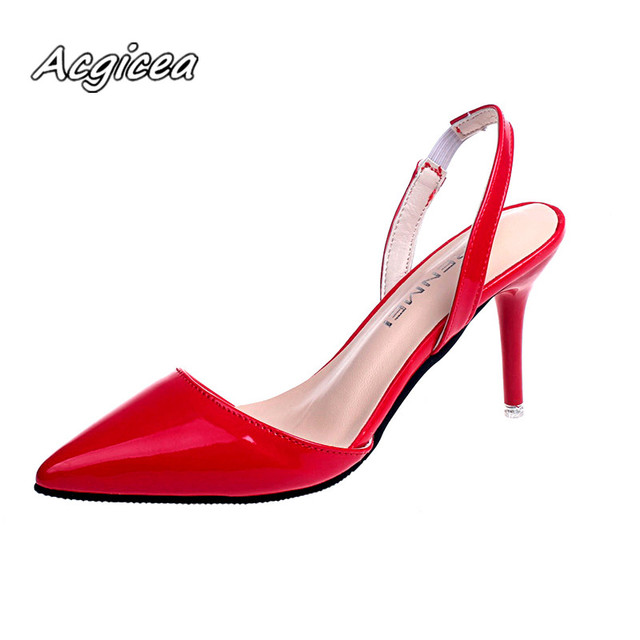 c580b8a9a 2019 spring Fashion Summer Women heel High Heels Sandals lady Pumps Shoes  sexy Women party shoes Wedding Slingbacks f026-in Women's Pumps from Shoes  on ...