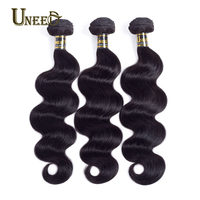 Uneed Hair Brazilian Body Wave Hair Extensions 100 Remy Human Hair Weave Bundles Natural Color Free