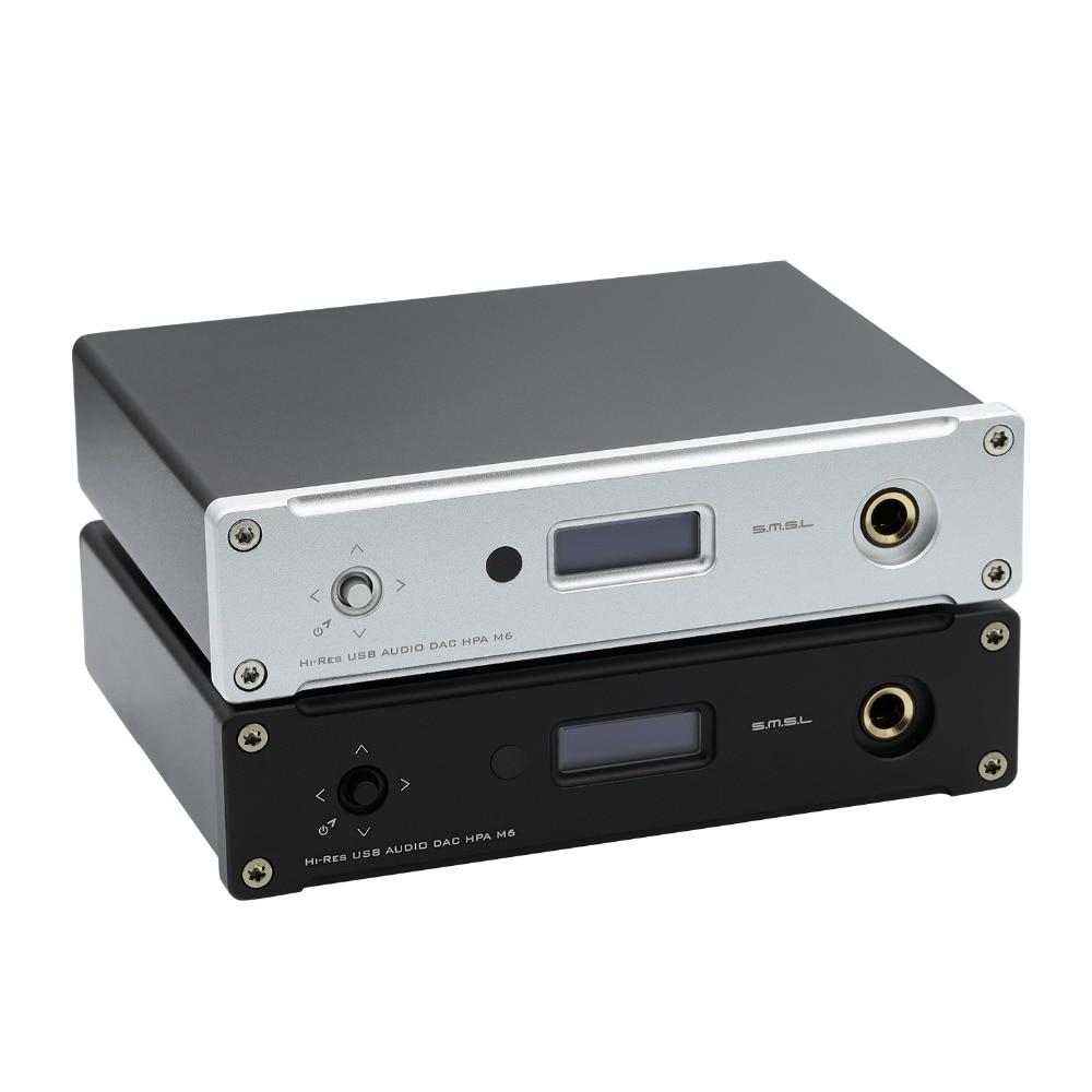 SMSL M6 SALUT-FI USB DAC AK4452 XMOS XU208 Décodeur Natif DSD512 Amp 32bit/768 kHz USB Optique Coaxial Entrée casque Amplificateur