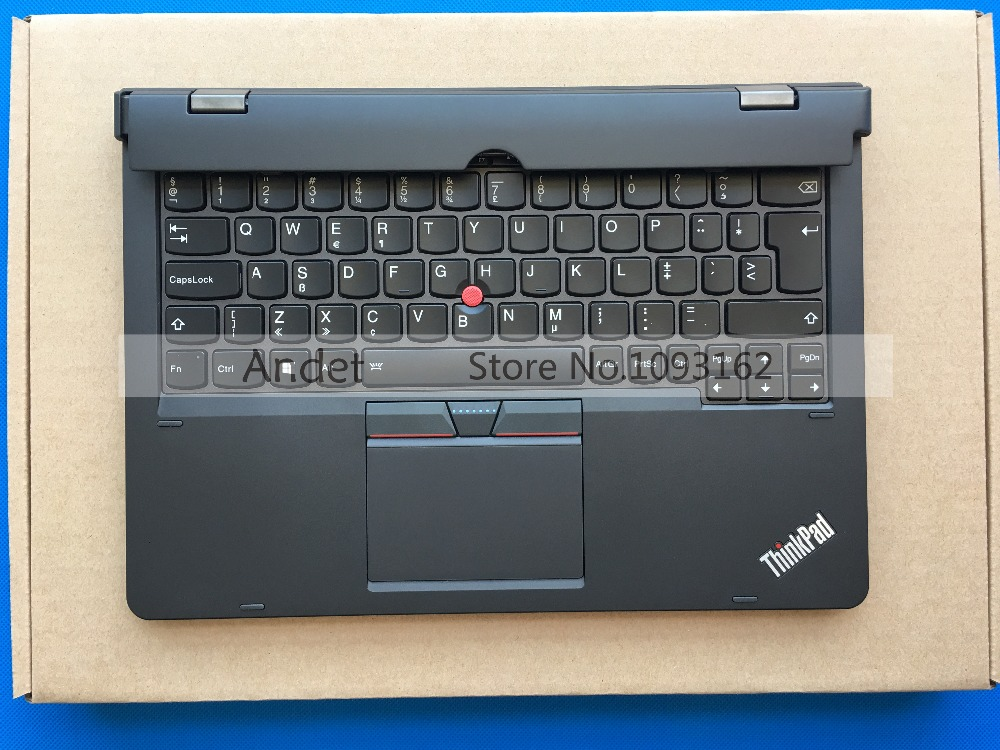 New Original Lenovo ThinkPad X1 Helix 2nd 2 20CG 20CH Ultrabook Pro Keyboard EU Backlit Battery Palmrest Base Bottom genuine new for lenovo thinkpad x1 helix 2nd 20cg 20ch ultrabook pro keyboard us layout backlit palmrest cover big enter