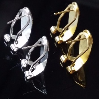 Taidian paznokieć kolczyk posty złoto srebro-pozłacana biżuteria ustalenia akcesoria 50-100 części partia tanie i dobre opinie CN (pochodzenie) 0 48g Złącza 0 2cm copper linki do biżuterii Metal Miedziane FJ-001 Fingernail Earring Posts - Silver Plated