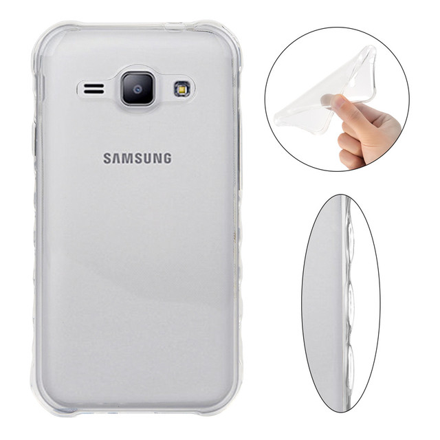 Non-slip Soft Cases For Samsung Galaxy J1 Ace Neo SM-J111F J1Ace Duos SM-J111F/DS Transparent TPU Silicon Covers Full Housing