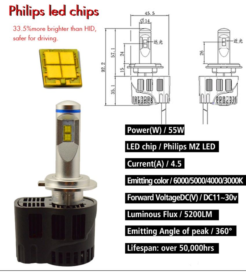 2018 New Automotive Bulb H4 H7 H8 H9 H10 H11 H15 Led Daytime Running Efficiency Driver 7w Power Drivers 7wled Circuit Diagram Special Materials Made Into Efficient Cooling System High Steady Performance
