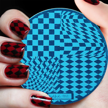 Nail art printing plate nail stamping leopard plaid stamp template Polish beauty tool