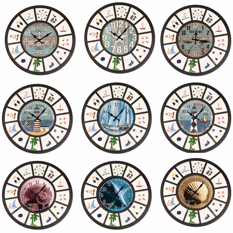 Embossed Style Clock Coffee Shop Restaurant Living Room Minimalist Decorative Clock Wall Wall Clock Modern