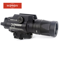 WIPSON Tactical X400V Pistol Light Combo Red Laser Constant/Momentary/Strobe Output Weapon Rifle Gun Flashlight
