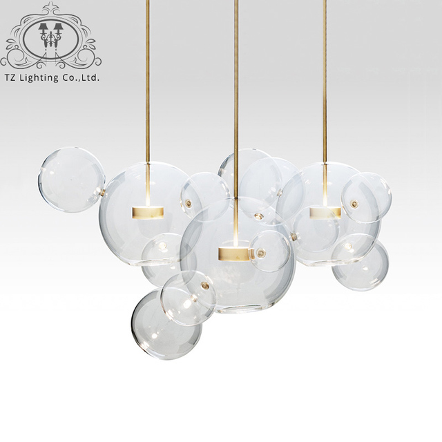 TZ Modern Bolle Pendant L& Glass L&shade Bubble Pendant Light For Parlor Iron pendente industrial lustre  sc 1 st  AliExpress.com & TZ Modern Bolle Pendant Lamp Glass Lampshade Bubble Pendant Light ...