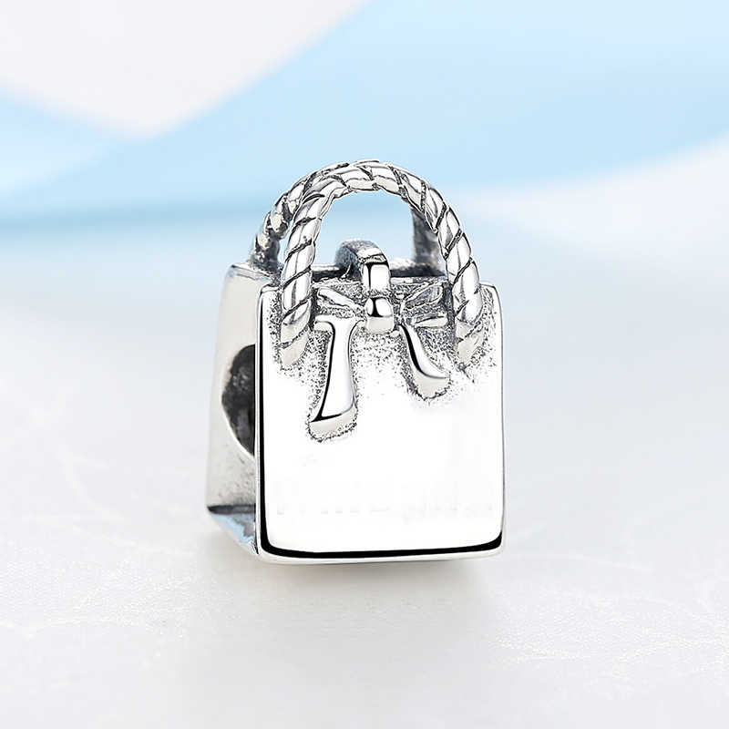 חדש 100% 925 סטרלינג כסף חרוז קסם בציר גברת תיק קסמי חרוזים Fit פנדורה DIY צמידים & צמידי נשים תכשיטים מתנה