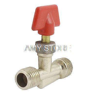 1PCS Silver Tone 1/4BSPT x 1/4BSPT or 1/8BSPT x 1/4BSPT  Male Thread Joint Pipe Gas Vent Needle Valve T Air Compressor Parts