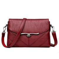 New Arrival Amasie 2018 New Lady Fashion Red Rivet Crossbody Bag Leather Handbag Small Size Flap Purse Sac Bolsas Tote EGT0118