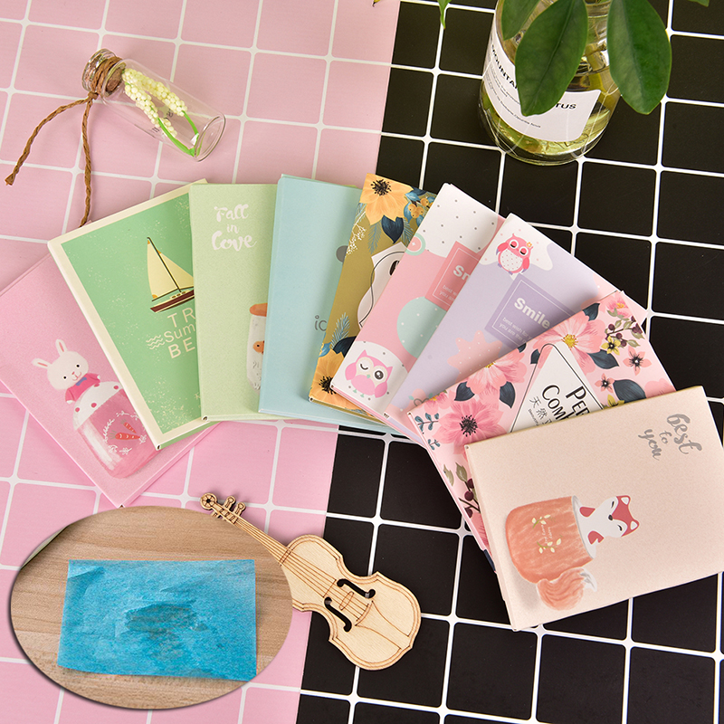 50 Sheets/Pack Oil Control Film Makeup Facial Face Clean Oil Absorbing Blotting Papers Random Pattern image