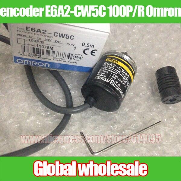 Free shipping incremental rotary encoder encoder E6A2 CW5C 100P R for Omron rotary optical encoder