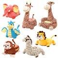 Criança brinquedo de pelúcia golfinho macaco girafa dos desenhos animados assento fezes sofá presente de aniversário, cadeira de assento de pelúcia