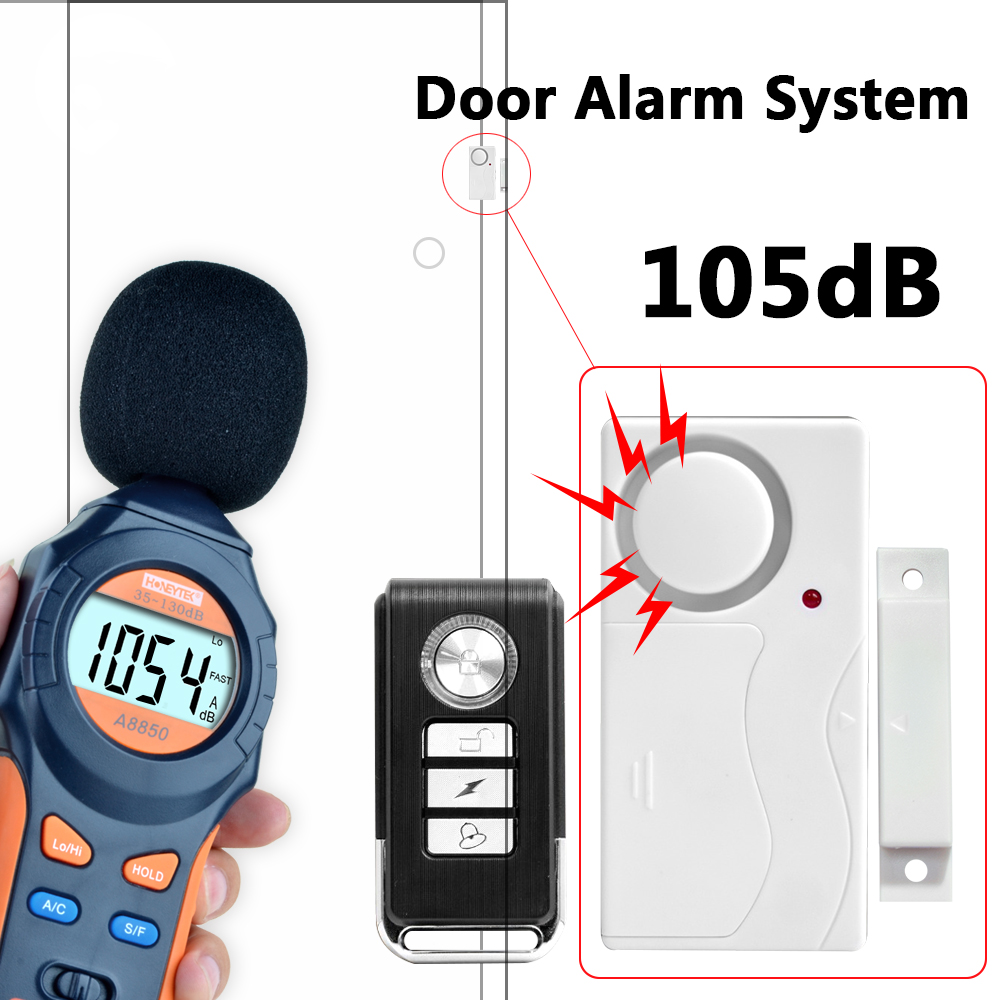 Wireless Remote Control Door Sensor Alarm Host Burglar Security Alarm System Home Protection Kit forecum 433mhz wireless magnetic door window sensor alarm detector for rolling door and roller shutter home burglar alarm system