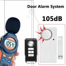 Wireless Remote Control Door Sensor Alarm Host Burglar Security Alarm System Home Protection Kit