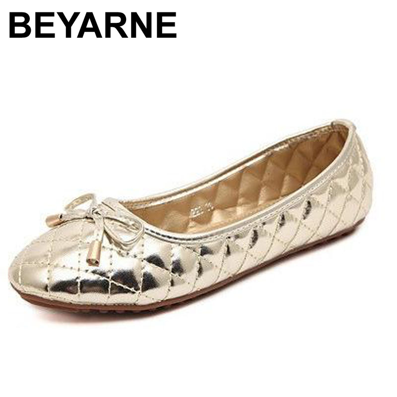 BEYARNE autumn and summer new Quilted Flats bow round flat shoes with small fragrant black flat shoes women shoes wholesale beyarne new spring and summer women flats shoes women pafty shoes candy color shoes have size 35 41 free shipping