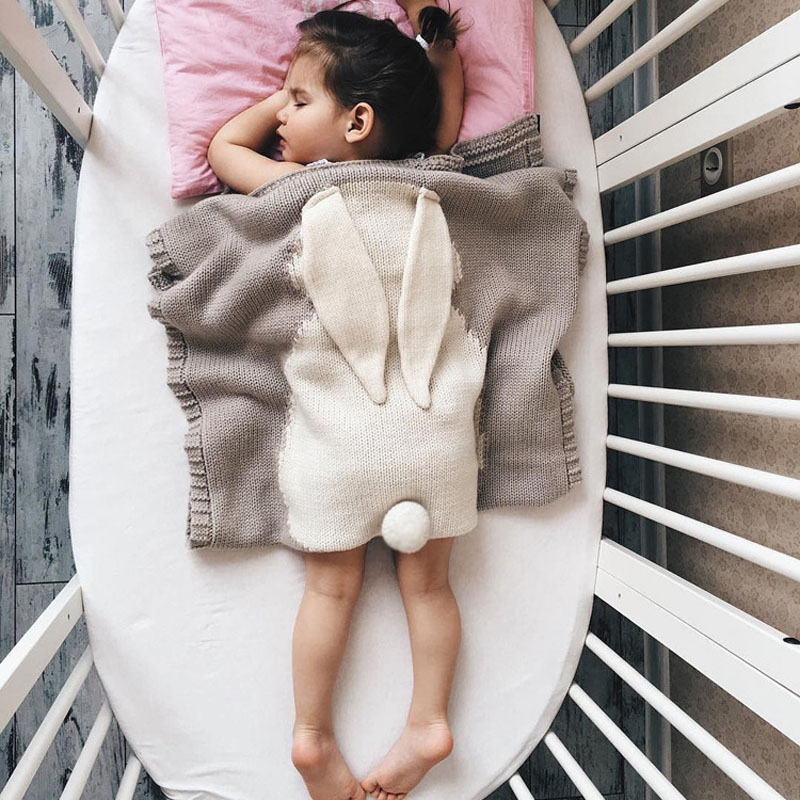 Baby Blanket Cotton Big Rabbit Ear Swaddling Newborn Blanket Wrap Soft Blankets Baby/Toddler/Kids Bedding Knitted lucide подвесной светильник lucide dumont 71342 40 41