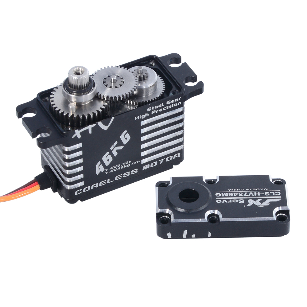 Image 3 - JX Servo CLS HV7346MG 46kg Coreless High Precision Steel Gear Full CNC Digital Servo for RC Car Crawler RC Boat Airplane Robot-in Parts & Accessories from Toys & Hobbies