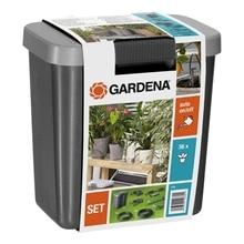 Набор поливочный GARDENA 01266-20.000.00 (Возможность поливать до 36 горшочных растений, полив по таймеру, трансформатор, насос, поливочный шланг, распределитель, колышек-держатель, пробка 8 мм)